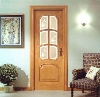 puerta en madera de cerezo de interior o de paso puertas ebanisteria esteban puertas de madera frisos y parquets muebles a medida