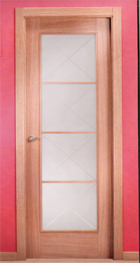madera de roble con jambas rectas de x muy bonita y moderna